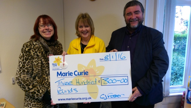 Donation to Marie Currie NI